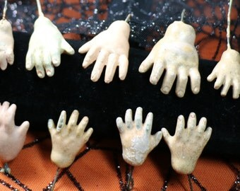 1 Super Creepy Vintage Composition Doll Hand