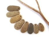 Top Drilled Beach Stone Beads Rock Beads Mediterranean Pebble Beads Natural Stone Beads Diy Jewelry Beach Findings GOLDEN TEARDROPS 30-46 mm