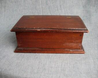 Vintage Wood Box Trinket Box Jewelry Box Mauch Chunk, Pa