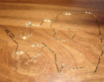 vintage necklace heavy long goldtone chain