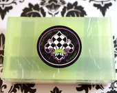 Green Plaid Tartan Pattern Handmade Shea Butter & Glycerine Soap Bars – Clover - Limited Release for St. Patrick's Day Shamrock Soap