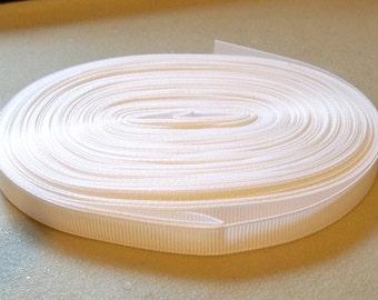 """White Grosgrain Ribbon-3/8""""-5 yds."""