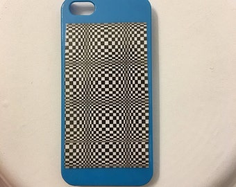 Blue Optical Illusion iPhone 5/5s Cell Phone Case