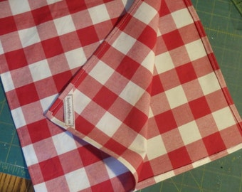 Table Linens - Red & White Checks, Gingham Table Runner, Plaid Table Topper, Picnic Tablecloth, Christmas Plaid, Cotton Tablecloth