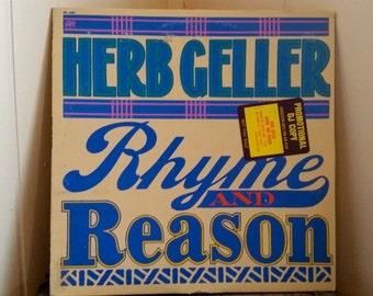 Vintage Herb Geller Rhyme and Reason, Album Record Vinyl LP