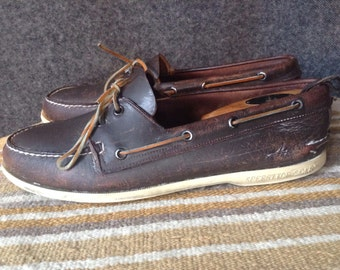 Vin Sperry Top-Sider leather boat shoes USA 11
