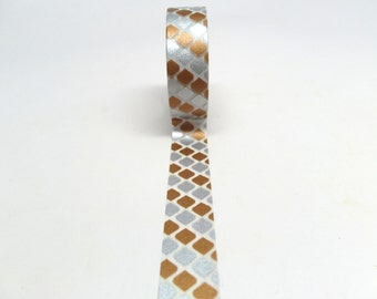 Silver and Copper Tile Washi Tape