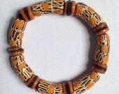 Orange & Brown African Bracelet