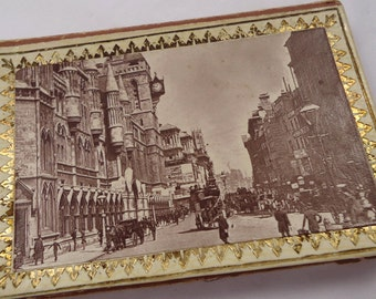 Vintage English sewing needle case - Windsor Castle, and The Strand, vintage ephemera / sewing notions (Ref P109)