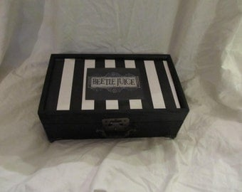 Beetlejuice Multi Compartment Keepsake Storage Jewelry Box