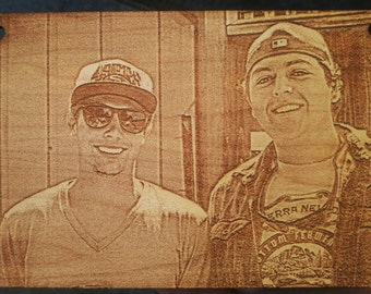 Custom picture etching send us your favorite pics to be etched into a wall hanging