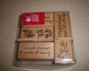 Rubber Stamp Lot of 5