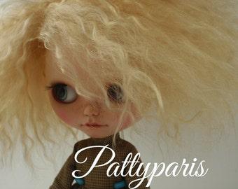 Ready to ship/Doll hair/Blythe scalp/ Blythe doll scalp/Hair doll/Mohair/Golden blonde  blonde 5-7nches