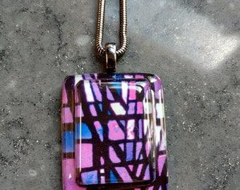 Purple Passion Necklace - Purple Jewelry - Wearable Art Jewelry. (PP-308-N)