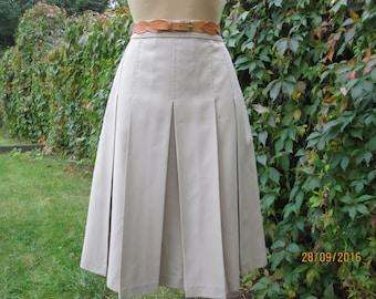 Pleated Skirt / Pleated Skirts / Beige Pleated Skirt / Skirt Size EUR42 / UK14