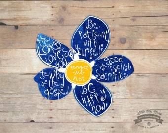 CLOSEOUT SALE, Forget-Me-Not Magnet from President Uchtdorfs RS Conf Talk
