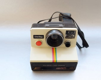 Vintage Polaroid Rainbow Instant Camera- See our great selection of Vintage Cameras and Polaroids