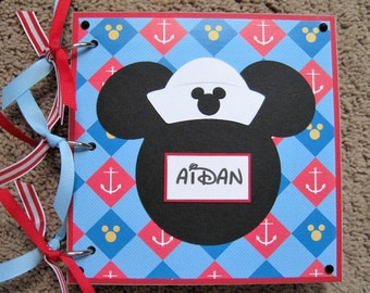 Disney Cruise Autograph / Photo Book - Mickey Mouse - Anchors