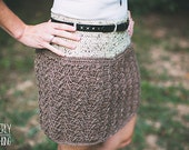 INSTANT DOWNLOAD - Crochet Pattern City Tweed Skirt