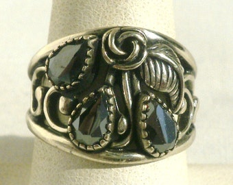 Sterling Silver Southwest Ring-Size 7 1/2