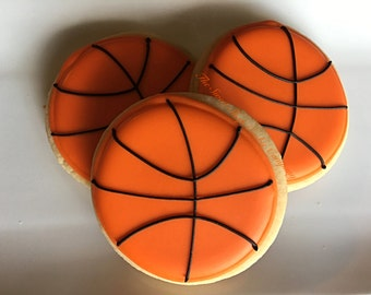 Basketballs Cookies 2 dozen