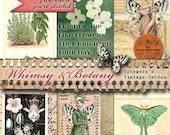 HALF PRICE Whimsy & Botany - Printable Journal/Collage Art Bits