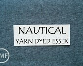 One Yard NAUTICAL Yarn Dyed Essex, Linen and Cotton Blend Fabric from Robert Kaufman, E064-412