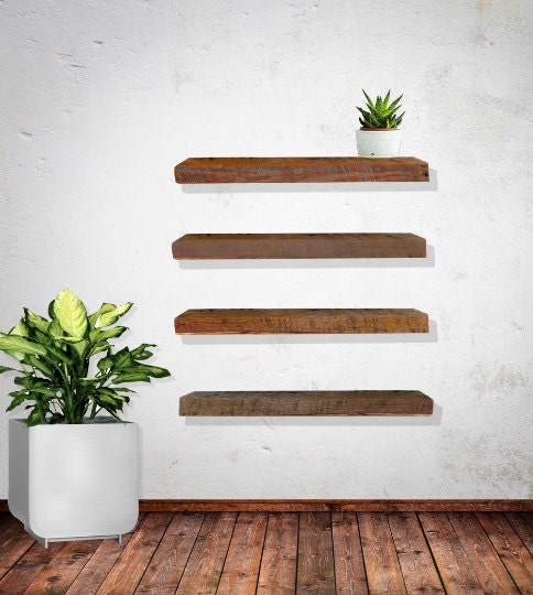 Floating Shelves Reclaimed Barn Wood Sets