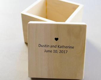 Ring Bearer Box Wedding Ring Box Ring Bearer Pillow Rustic Ring Box handmade in USA