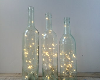 Wine Bottle Candle Holders/Covers Set of 3