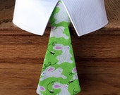 Sparkly Easter Dog Tie, Easter Dog Tie and Shirt Collar, Easter Bunnies Dog Tie with Sparkles