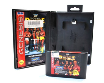 WWF Royal Rumble Game For Sega Genesis w/Box & Instructions