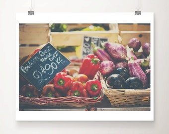 red peppers photograph kitchen wall art food photography bell peppers print fruit photograph french decor farmers market photograph