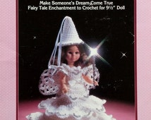 "20%OFF Fibre Fiber Craft FAIRY GODMOTHER 9"" Doll - Crochet Doll Dress Clothes Clothing Pattern"