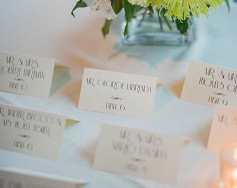 Art Deco, 1920s Inspired Placecards