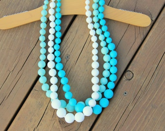 Ships Fast - Teething Necklace 3 Pack - Discount Set - Breakfast At Tiffanys - FREE SHIPPING SALE - Nursing necklace - Includes 3 necklaces