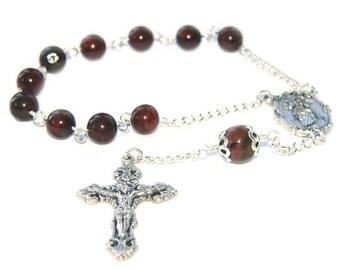 Mary, Untier of Knots Single Decade Rosary / Catholic Pocket Rosary