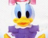 AD09- Crochet Baby Daisy duck, Disney Amigurumi, Japanese pattern diagram, PDF
