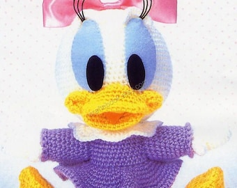 AD09- Crochet Baby Daisy duck, Disney Amigurumi, Japanese pattern diagram, PDF