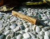TIE CLIP - Wooden Special Bethlehem OLIVE Wood Handmade Tie Bar