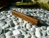TIE CLIP - Wooden Yellow PLUM Wood Handmade Tie Clip
