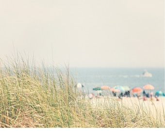 beach decor coastal, beach umbrella print, beach photography, ocean print, ocean decor, ocean print, ocean art, colorful beach photo