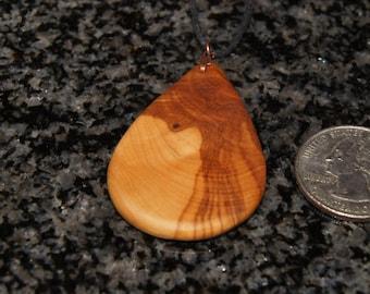 Olive Wood Pendant, wood jewelry, wood grain