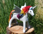 Rainbow Pegacorn Plush ~ Sunshine on a Cloudy Day, Eco Friendly Stuffed Animal Toy, Fantasy Unicorn Pegasus, Rainbow, Girls, Boys, Kids Gift