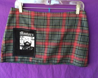 Mentors pocket pink and gray altered Plaid skirt.