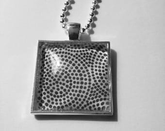 Dots and Swirls Pendant Necklace