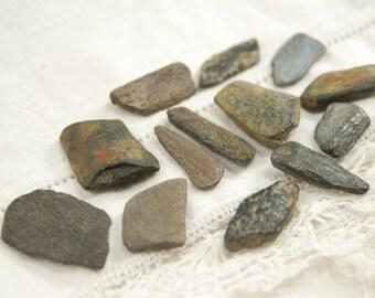 "13 ancient fossil bone sticks (.75"" - 1"") (no.200)"