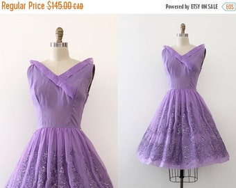 SUMMER SALE vintage 1960s dress // 60s purple prom dress