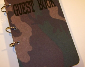 Guest Book, Camouflage Party, Birthday Party, Guest Book, Birthday Guest Book, Camo Baby Shower, Hunting Party