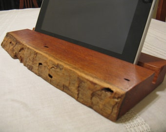 Natural Edge Texas Mesquite Wood iPad / Photo Frame Holder (Can be personalized)